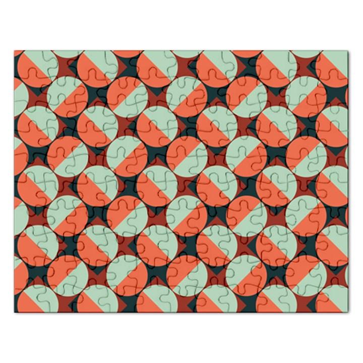 Modernist Geometric Tiles Rectangular Jigsaw Puzzl