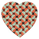 Modernist Geometric Tiles Jigsaw Puzzle (Heart) Front