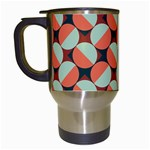Modernist Geometric Tiles Travel Mugs (White) Left
