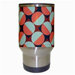 Modernist Geometric Tiles Travel Mugs (White) Center