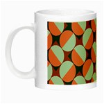 Modernist Geometric Tiles Night Luminous Mugs Left