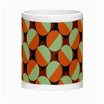 Modernist Geometric Tiles Night Luminous Mugs Center