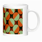 Modernist Geometric Tiles Night Luminous Mugs Right