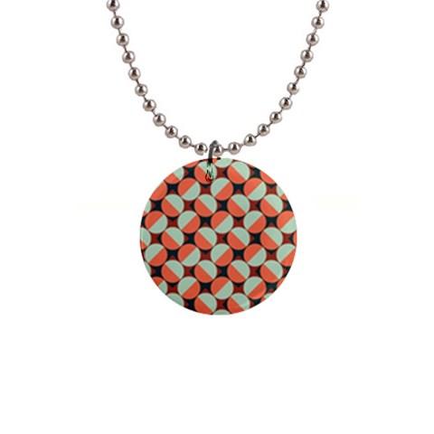 Modernist Geometric Tiles Button Necklaces
