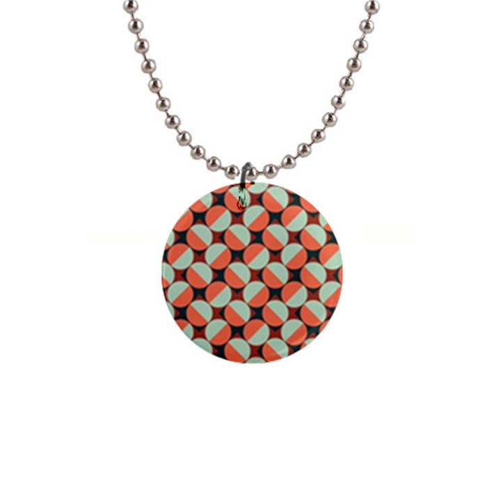 Modernist Geometric Tiles Button Necklaces