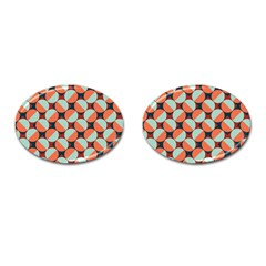 Modernist Geometric Tiles Cufflinks (oval)