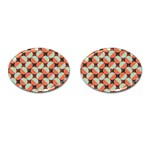 Modernist Geometric Tiles Cufflinks (Oval) Front