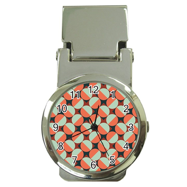 Modernist Geometric Tiles Money Clip Watches