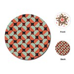 Modernist Geometric Tiles Playing Cards (Round)  Front
