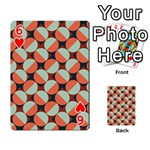 Modernist Geometric Tiles Playing Cards 54 Designs  Front - Heart6