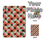 Modernist Geometric Tiles Playing Cards 54 Designs  Front - Spade4