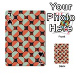 Modernist Geometric Tiles Playing Cards 54 Designs  Front - Spade7