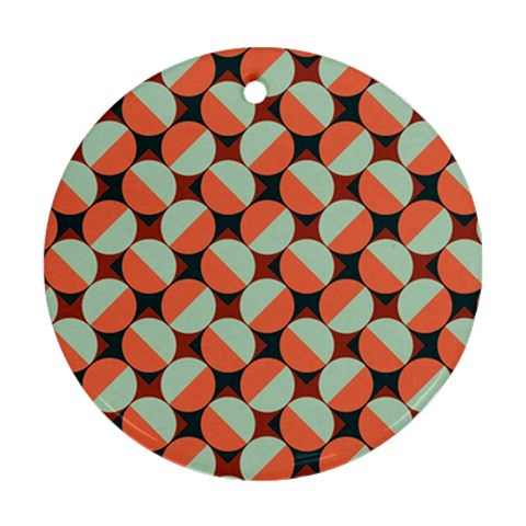 Modernist Geometric Tiles Round Ornament (Two Sides)