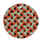 Modernist Geometric Tiles Round Ornament (Two Sides)  Back