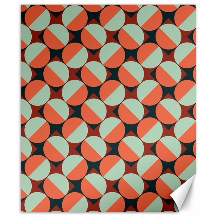 Modernist Geometric Tiles Canvas 8  x 10