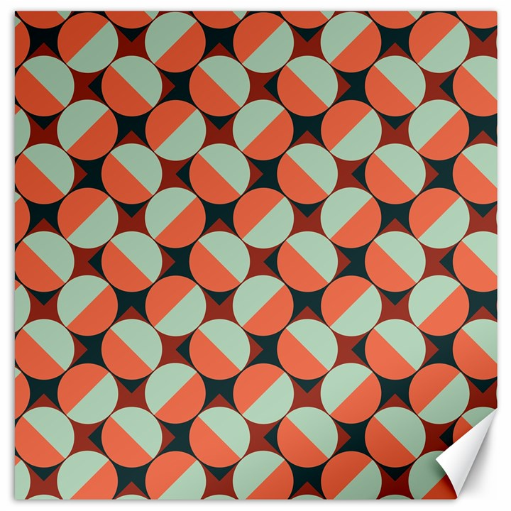 Modernist Geometric Tiles Canvas 16  x 16