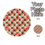 Modernist Geometric Tiles Playing Cards 54 (Round)  Front - Heart3