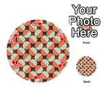 Modernist Geometric Tiles Playing Cards 54 (Round)  Front - DiamondQ