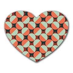 Modernist Geometric Tiles Heart Mousepads