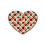 Modernist Geometric Tiles Heart Coaster (4 pack)  Front