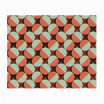 Modernist Geometric Tiles Small Glasses Cloth (2-Side) Back