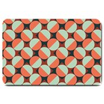 Modernist Geometric Tiles Large Doormat  30 x20 Door Mat - 1