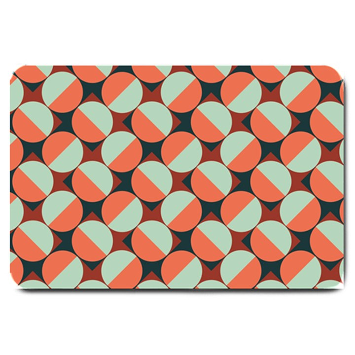 Modernist Geometric Tiles Large Doormat