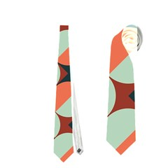 Modernist Geometric Tiles Neckties (two Side)