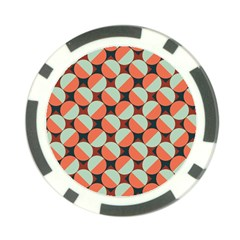 Modernist Geometric Tiles Poker Chip Card Guards