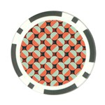 Modernist Geometric Tiles Poker Chip Card Guards Back