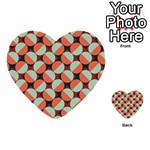 Modernist Geometric Tiles Multi-purpose Cards (Heart)  Back 1