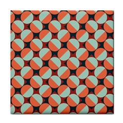 Modernist Geometric Tiles Face Towel