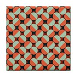 Modernist Geometric Tiles Face Towel Front