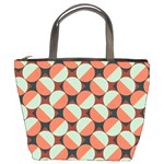 Modernist Geometric Tiles Bucket Bags Front