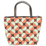 Modernist Geometric Tiles Bucket Bags Back