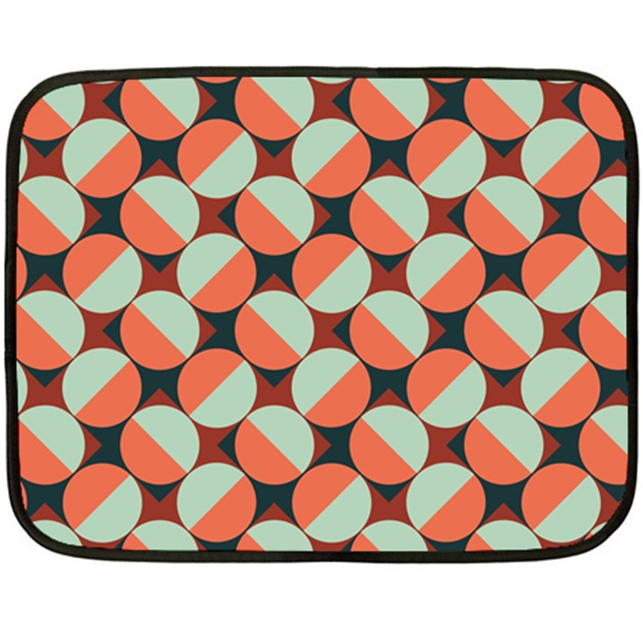 Modernist Geometric Tiles Double Sided Fleece Blanket (Mini)