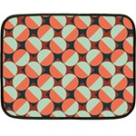Modernist Geometric Tiles Double Sided Fleece Blanket (Mini)  35 x27 Blanket Back