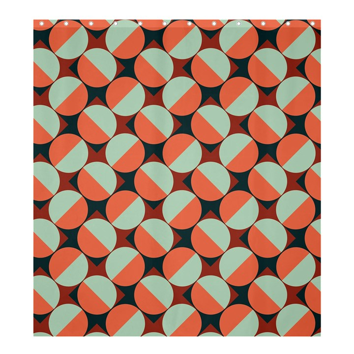 Modernist Geometric Tiles Shower Curtain 66  x 72  (Large)