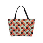 Modernist Geometric Tiles Shoulder Handbags Front