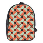 Modernist Geometric Tiles School Bags(Large)  Front