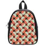 Modernist Geometric Tiles School Bags (Small)  Front