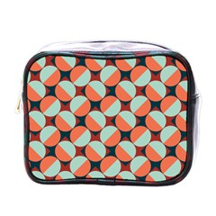 Modernist Geometric Tiles Mini Toiletries Bags