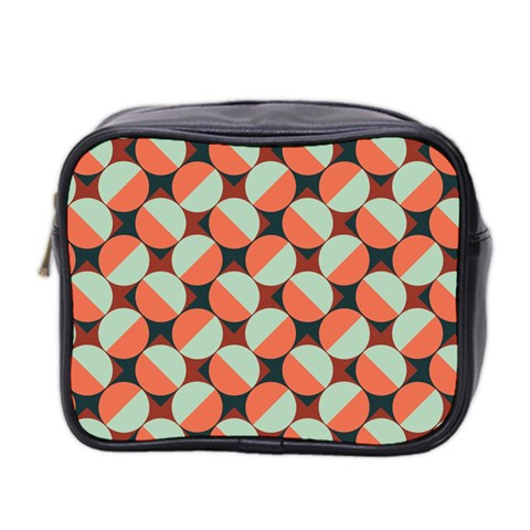 Modernist Geometric Tiles Mini Toiletries Bag 2-Side