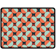 Modernist Geometric Tiles Fleece Blanket (Large)