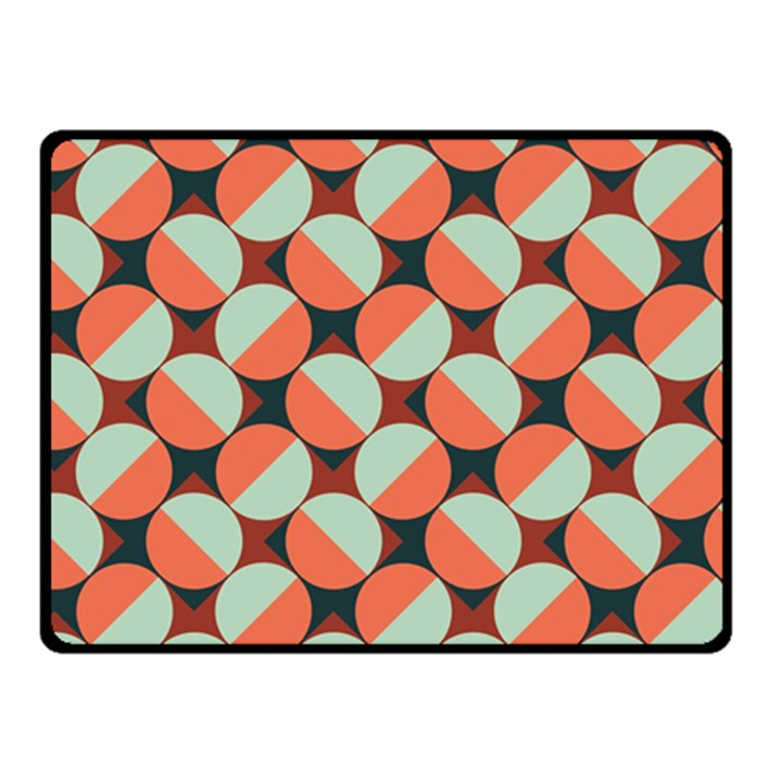Modernist Geometric Tiles Fleece Blanket (Small)