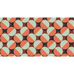 Modernist Geometric Tiles Magic Photo Cubes Long Side 3