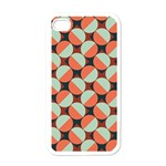 Modernist Geometric Tiles Apple iPhone 4 Case (White) Front