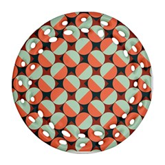 Modernist Geometric Tiles Ornament (Round Filigree)