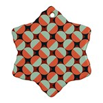 Modernist Geometric Tiles Snowflake Ornament (2-Side) Front