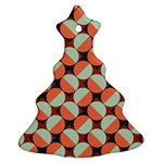 Modernist Geometric Tiles Christmas Tree Ornament (2 Sides) Front